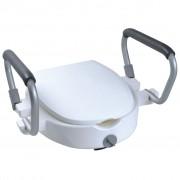 Parcura Nadstavec na WC s opierkami rúk, 120 kg, biely, 84841