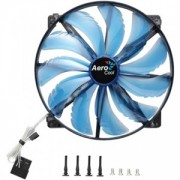 Ventilator 200 mm Aerocool Silent Master Blue LED