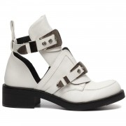 Boots Buckle Up White - Enkellaarzen