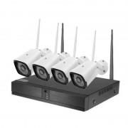 Unotec Kit de Vigilância com 4 Câmaras WiFi e 4 Canais