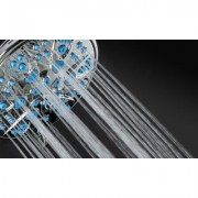 AquaDance Shower Head with Microban Antimicrobial Nozzle Protection: Light Blue