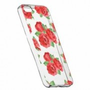 Husa Silicon Transparent Slim Rose 97 Apple iPhone 5 5S SE
