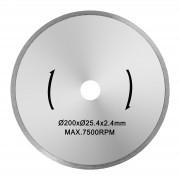 Disco de corte de azulejos - 200 mm - 25,4 mm