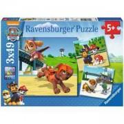 Пъзел Ravensburger 3х49 елемента, Пес патул: Екип от четирима, 7009239