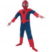 Pókember Ultimate Spiderman deluxe jelmez - 128-as méret - Jelmezek