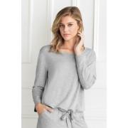 Womens Mia Lucce Open Back Top - Grey Marl Sleepwear Nightwear