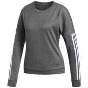 adidas Women's Response Crew Jumper - Grey Heather - L - GREY HEATHER