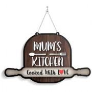 100yellow Wood Mun'S Kitchen Designer Shape Decorative Plate Multi - Pack of 1