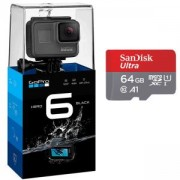 Видеокамера GoPro Hero 6 Black Camera+Карта памет SANDISK Ultra micro SDXC 64GB UHS-I