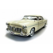Motor Max 1955 Chrysler C300 Hard Top, Cream White - 73302AC/YL 1/24 Scale Diecast Model Toy Car