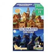 Mini Puzzle cu doua fete - Zi, Noapte, 24 piese