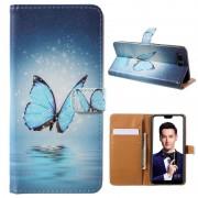 Bolsa Tipo Carteira Série Glam para Huawei Honor 10 - Borboleta Azul
