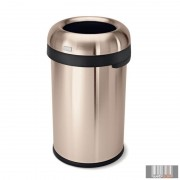 SimpleHuman CW1480 80 literes nyitott rozsdamentes szemetes - rózsaarany