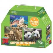 National Geographic Puzzle 3D - Životinje SET 3/1