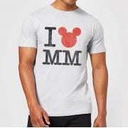 Disney Camiseta Disney Mickey Mouse I Love MM - Hombre - Gris - XXL - Negro