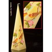 Designkaarsen com Vogeltjes kaars, Piramide 33 cm - kaarsen