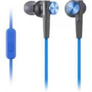 Sony MDR-XB50AP - Earphones with mic - in-ear - wired - 3.5 mm jack - blue