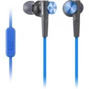 Sony MDR-XB50AP - Earphones with mic - in-ear - wired - 3.5 mm jack - blue