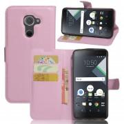 Premium PU Leather Wallet Case con bolsillos para la identificación, tarjetas de crédito para BlackBerry DTEK60 Tablet-Rosa