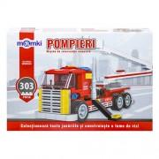 Set constructie tip lego - camion interventie - 229 piese