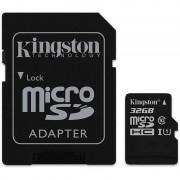 Cartão de Memória MicroSDHC Kingston SDC10G2/32GB - 32GB