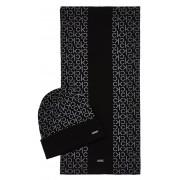 Calvin Klein Set căciulă și eșarfă ind. Mono Giftpack Beanie -Scarf Black Beauty
