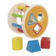 Jucarie eco din lemn 1-2-3 sorteaza formele Hape