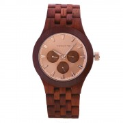 Bedate Women's Chronograph Bamboo Rose Wood Watch
