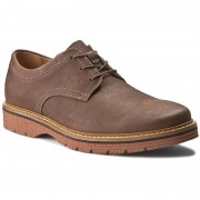 Обувки CLARKS - Newkirk Plain 261105817 Dark Brown Nub