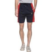 Vimal-Jonney Navy Blue Cotton Blended Shorts For Men