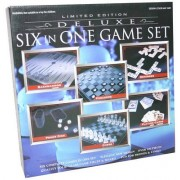 Deluxe Limited Edition 6 games in 1 Glass Game Set