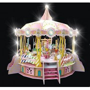 Daron Merry Go Round 3D Puzzle with Lights & Sounds (106 Piece)