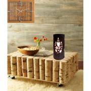 AH Black Color With Silver Shading Ganesh Laxmi Design Iron Table Lamp