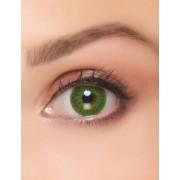 Vegaoo Groene electro contactlenzen voor volwassenen One Size