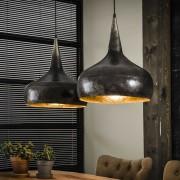Zaloni Hanglamp Trechter 2LxØ40 van 100 cm breed - Oud zilver