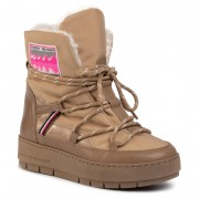 Pantofi TOMMY HILFIGER - City Voyager Snow Boot FW0FW04574 Tiger's Eye BRW