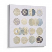 Kave Home Lienzo Silva 60 x 60 cm círculos