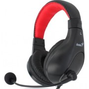 Casti cu Microfon Genius HS-520 (Negru/Rosu)