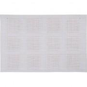 Merkloos 1x Placemat wit geweven/gevlochten 45 x 30 cm