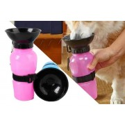 Beijing Jianshuaizhilong Commerce and Trading Co Ltd T/A MBLogic £7.99 instead of £19.99 for a two-in-one portable pet bowl and bottle from MBLogic - choose between blue, grey or pink! - save 60%