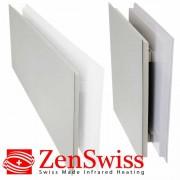 ZenSwiss Niedrigenergie-Infrarotheizungen (Leistung/Grösse: 390W / 40 cm x 120 cm, Farbe: Matt Schwarz)