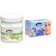 Pink Root Oxy Ice Cool Bleach 250gm and Pink Root d'Olive Massage Cream 500ml