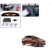 Auto Addict Car Silver Reverse Parking Sensor With LED Display For Tata Tigor