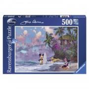 Ravensburger puzzel Mickey & Minnie strand - 500 stukjes