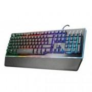 Клавиатура Trust GXT 860 Thura, гейминг, хибридна, подсветка, черна, USB