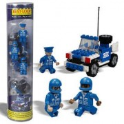 Best Lock Construction Tube Figures - Police Car