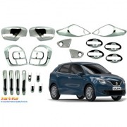 Car Chrome Accessories combo kit for Baleno by Fireplay. Full Exterior car accessories (long-lasting chrome 20Pcs)
