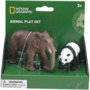 Set 2 figurine National Geographic Elefant si Urs Panda