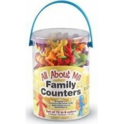 Jucarie educativa Learning Resources Family Counters - 72 Pieces