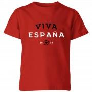 Football Camiseta Fútbol España Viva España - Niño - Rojo - 11-12 años - Rojo